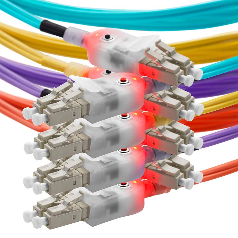 Lighted fiber cables